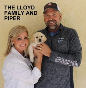 The Lloyd family and Piper