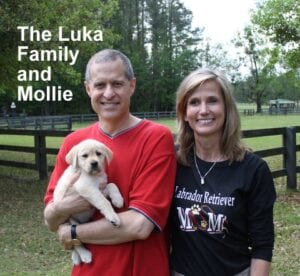The Luka family and Mollie