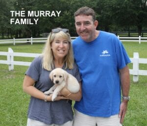 The Murray family and their dog