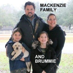 The Mackenzie family and Brummie