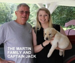 The Martin family and Captain Jack