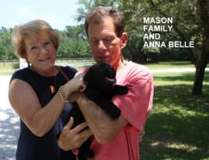 The Mason family and Anna Belle