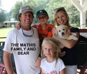 The Mathis family and Bear