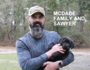 The McDade family and Sawyer