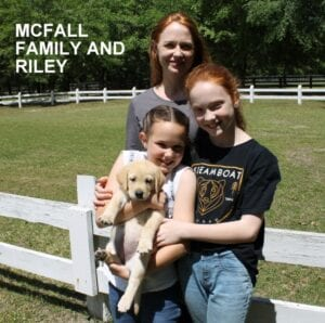 The McFall family and Riley