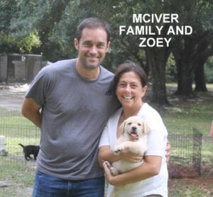 The McIver family and Zoey