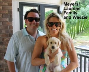 The Meyers Laurens family and Weezie