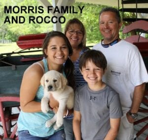 The Morris family and Rocco