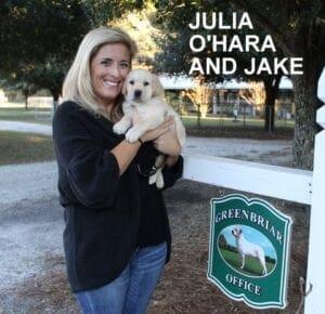 Julia O'Hara and her dog Jake