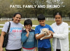 The Patel family and Bruno