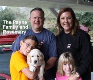 The Payne family and Rosemary