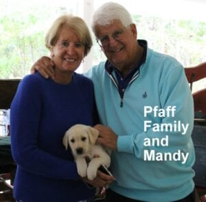 The Pfaff family and Mandy