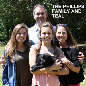 The Phillips family and Teal