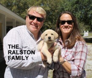 The Ralston family and their puppy