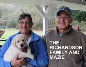 The Richardson family and Mazie