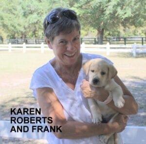 Karen Roberts and her dog