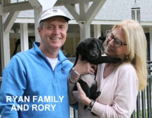 The Ryan family and Rory