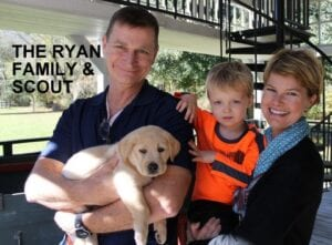 The Ryan family and Scout