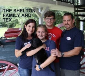 The Shelton family and Tex