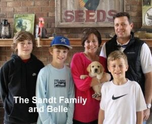 The Sandt family and Belle