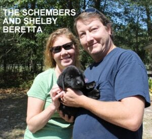 The Schember family and Shelby Beretta