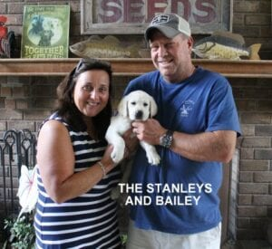 The Stanley family and Bailey