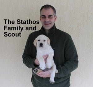 The Stathos family and Scout