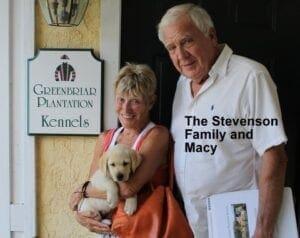 The Stevenson family and Macy