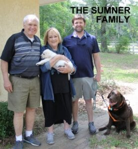 The Summer family and their dogs