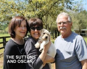The Suttons family and Oscar