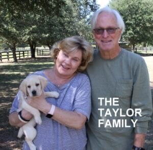 The Taylor family and their pup