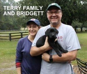 The Terry family and Bridgett
