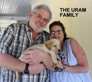 The Uram family and their pup