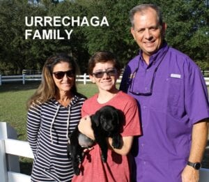 The Urrechaga family and their new pet