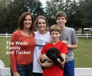 The Wade family and Tucker