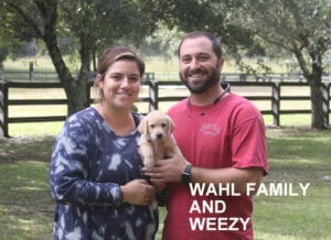 The Wahl family and Weexy