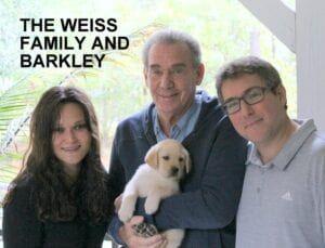 The Weiss family and Barkley