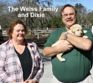 The Weiss family and Dixie