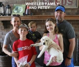 The Wheeler family and Petey