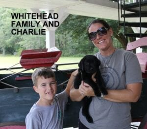 The Whitehead family and Charlie