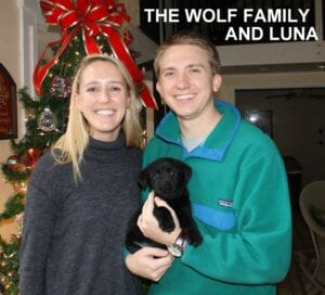 The Wolf family and Luna