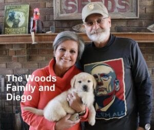 The Woods family and Diego