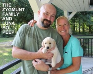 The Zygmunt family and Luna Bo Peep