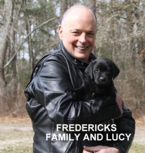 The Fredericks family and Lucy