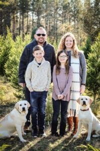The Gaunts family and their dogs