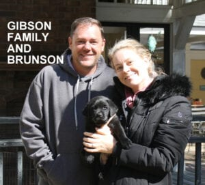 The Gibson family and Brunson