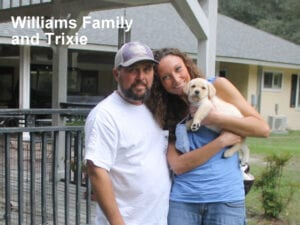 The Williams family and Trixie