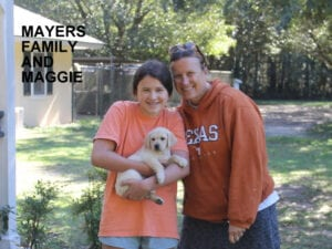 The Mayers family and Maggie