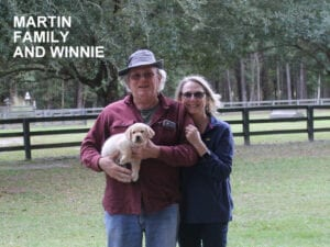 The Martin family and Winnie