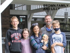 The Brown family and Lilly